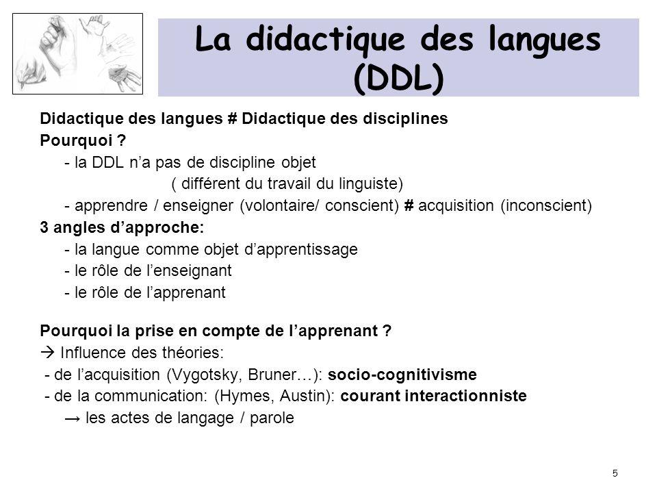 La didactique des langues (DDL)