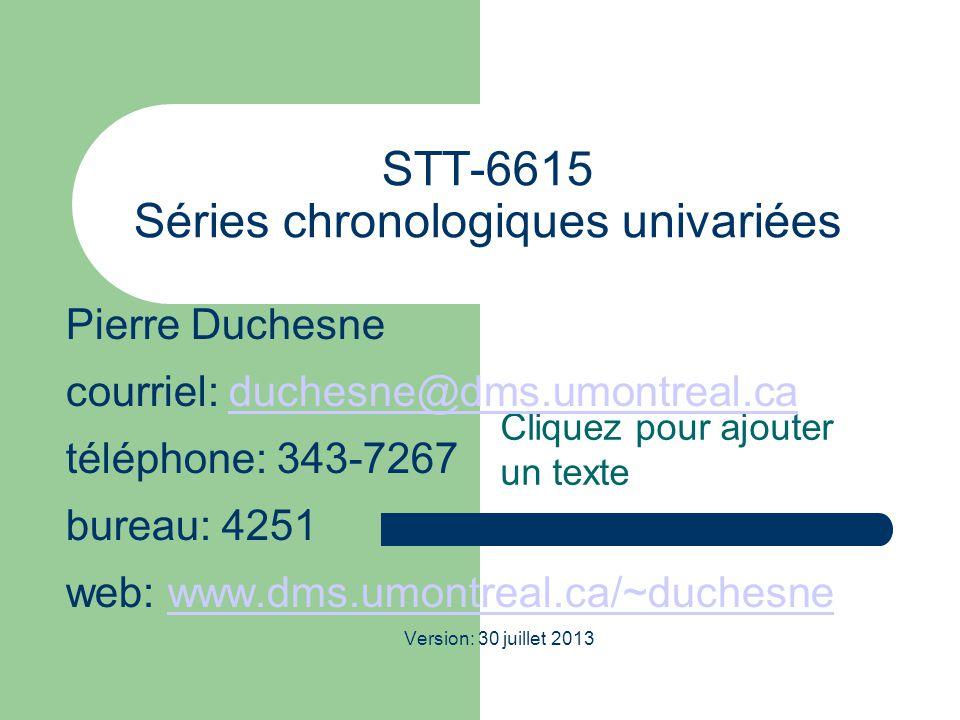 STT-6615 Séries chronologiques univariées