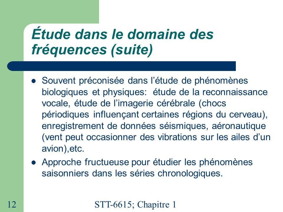 Étude dans le domaine des fréquences (suite)