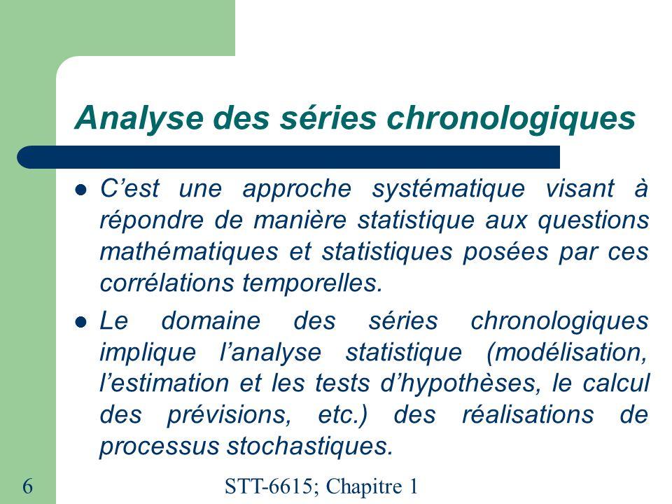 Analyse des séries chronologiques