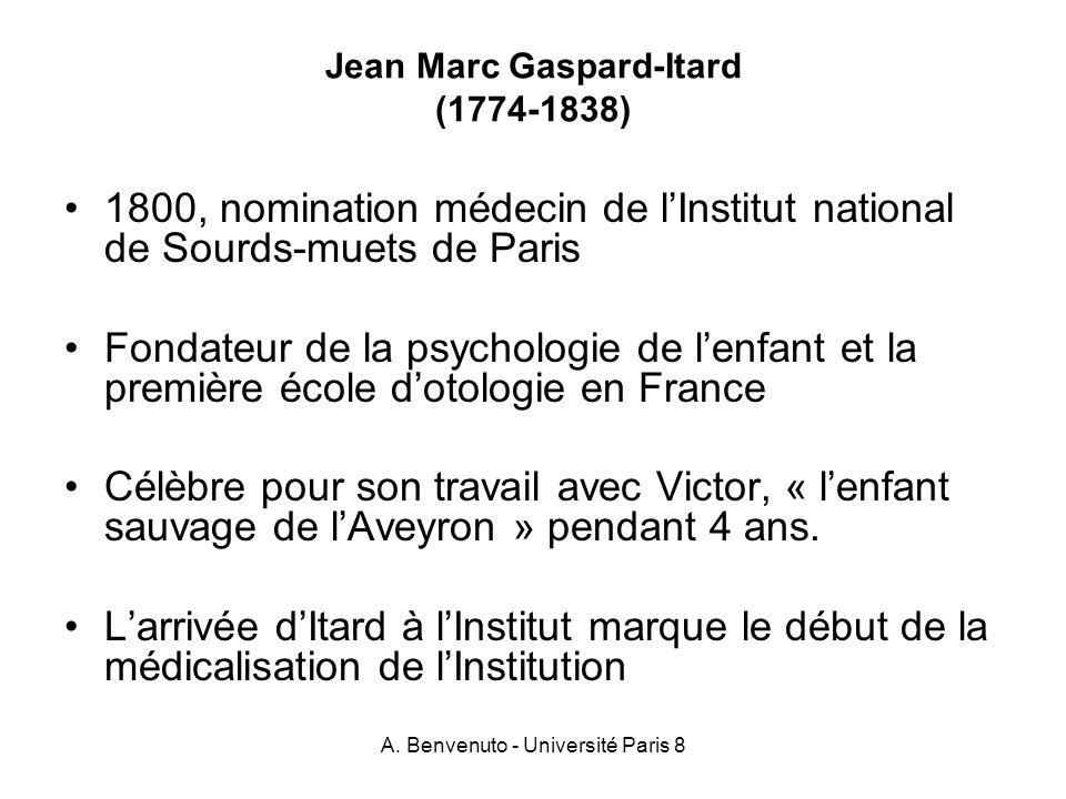 Jean Marc Gaspard-Itard (1774-1838)