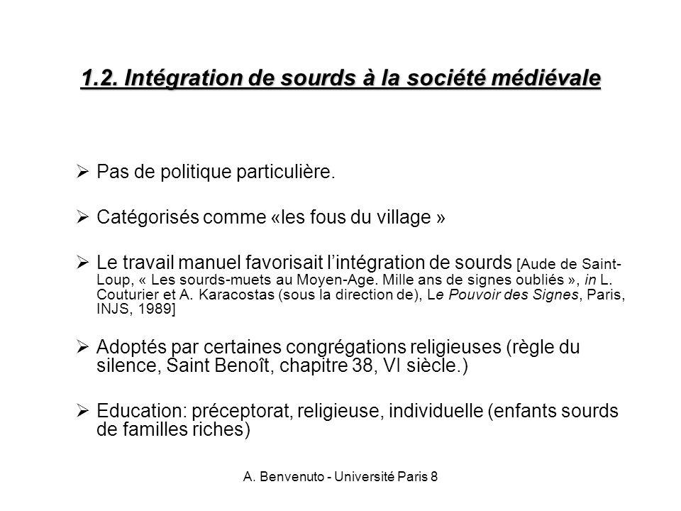 1.2. Intégration de sourds à la société médiévale