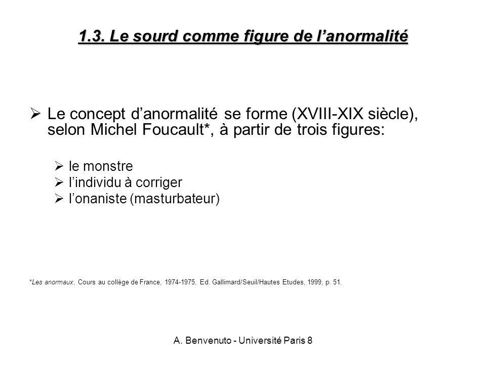 1.3. Le sourd comme figure de l'anormalité