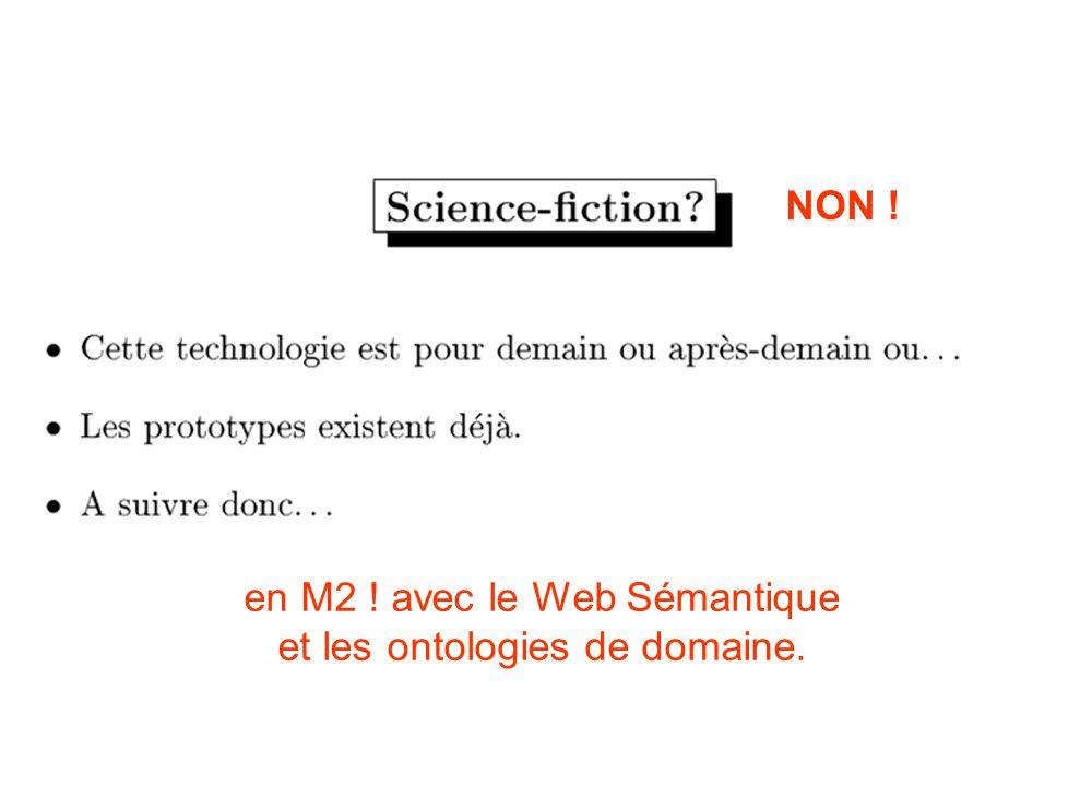 en M2 ! avec le Web Sémantique et les ontologies de domaine.