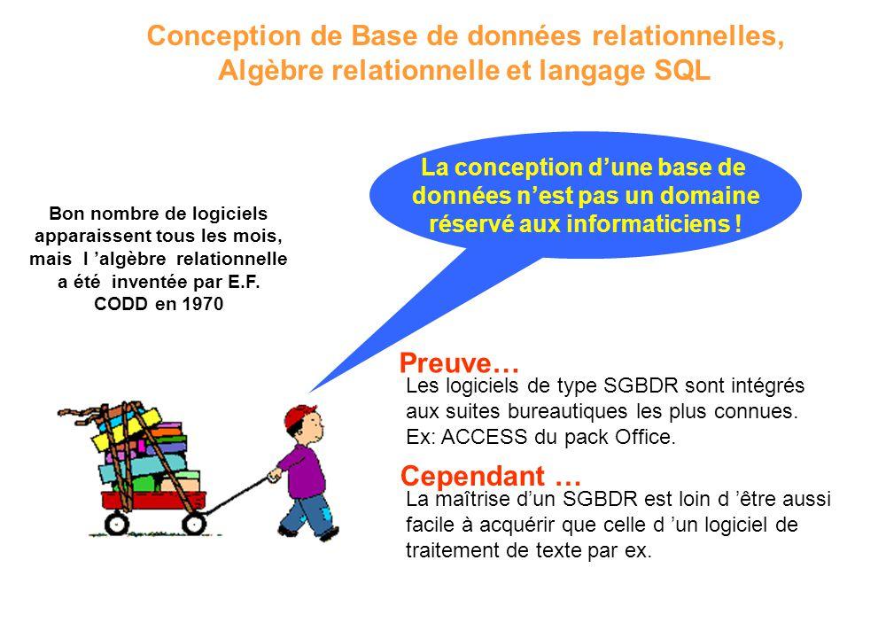 Conception de Base de données relationnelles,