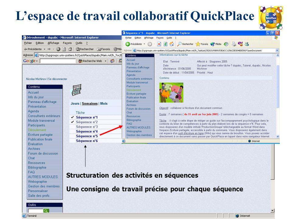 L'espace de travail collaboratif QuickPlace