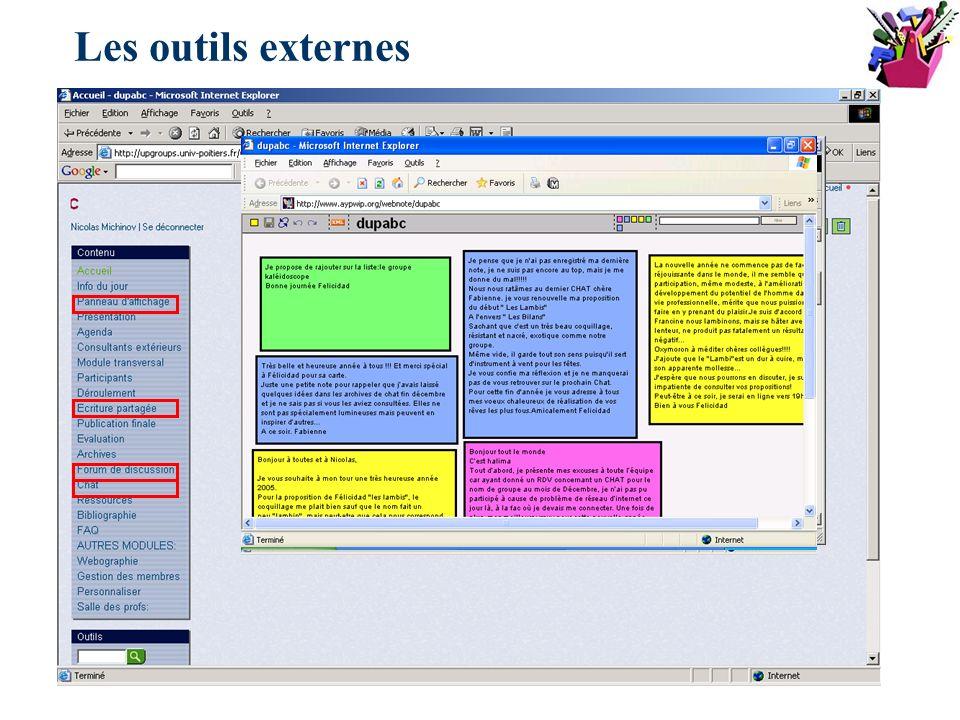 Les outils externes
