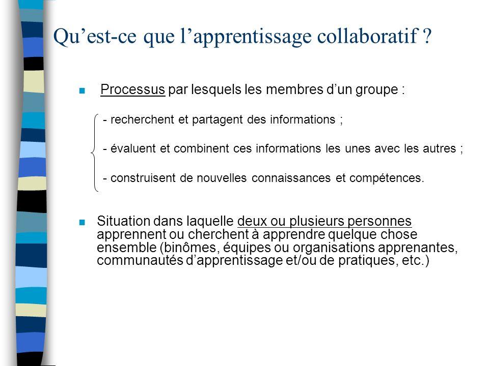 Qu'est-ce que l'apprentissage collaboratif