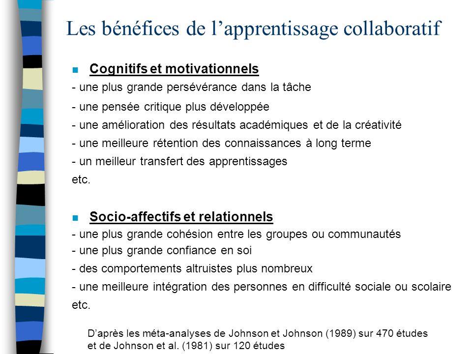 Les bénéfices de l'apprentissage collaboratif