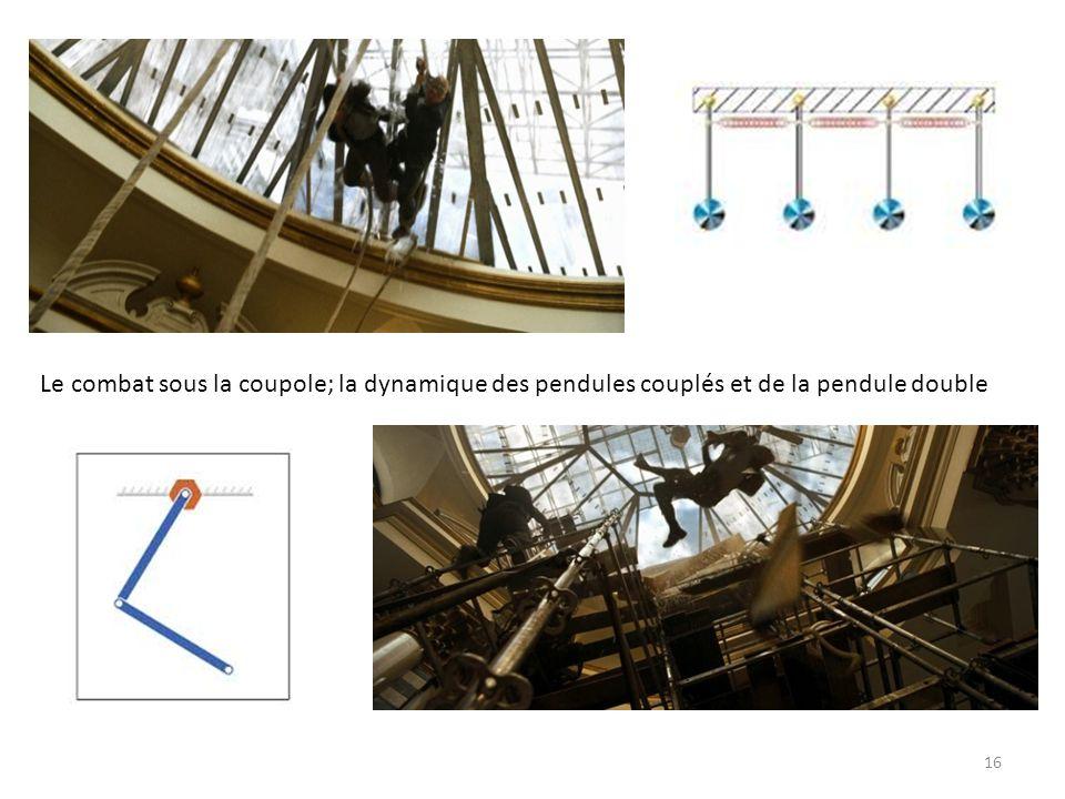 Le combat sous la coupole; la dynamique des pendules couplés et de la pendule double