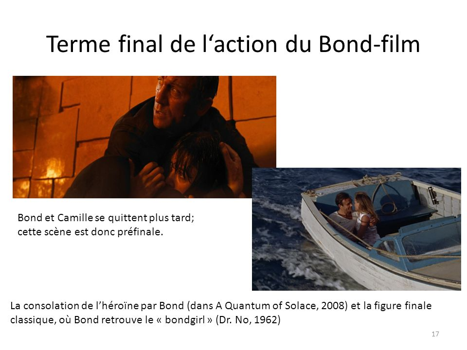 Terme final de l'action du Bond-film