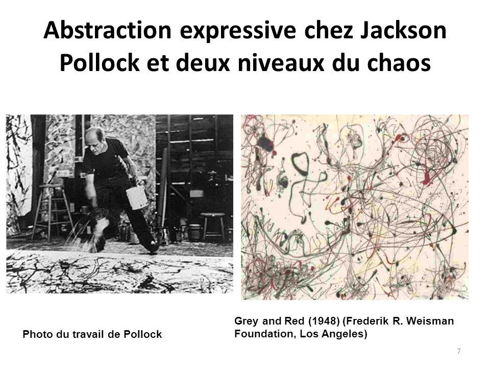 Abstraction expressive chez Jackson Pollock et deux niveaux du chaos