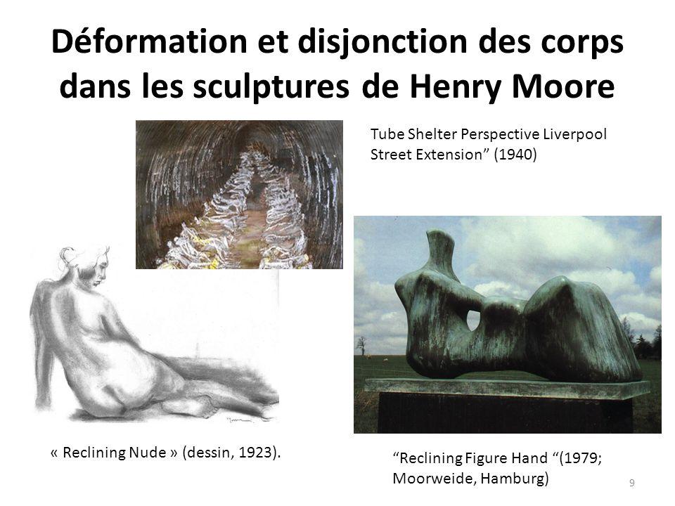 Déformation et disjonction des corps dans les sculptures de Henry Moore