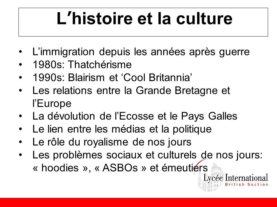 L'histoire et la culture