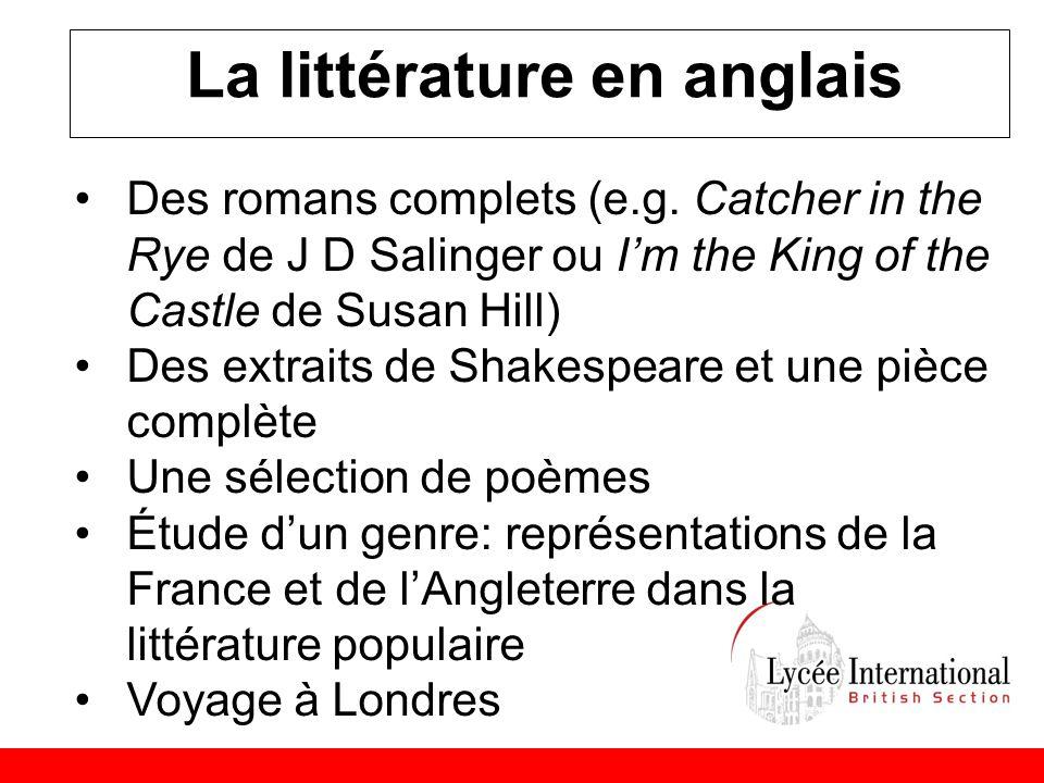 La littérature en anglais