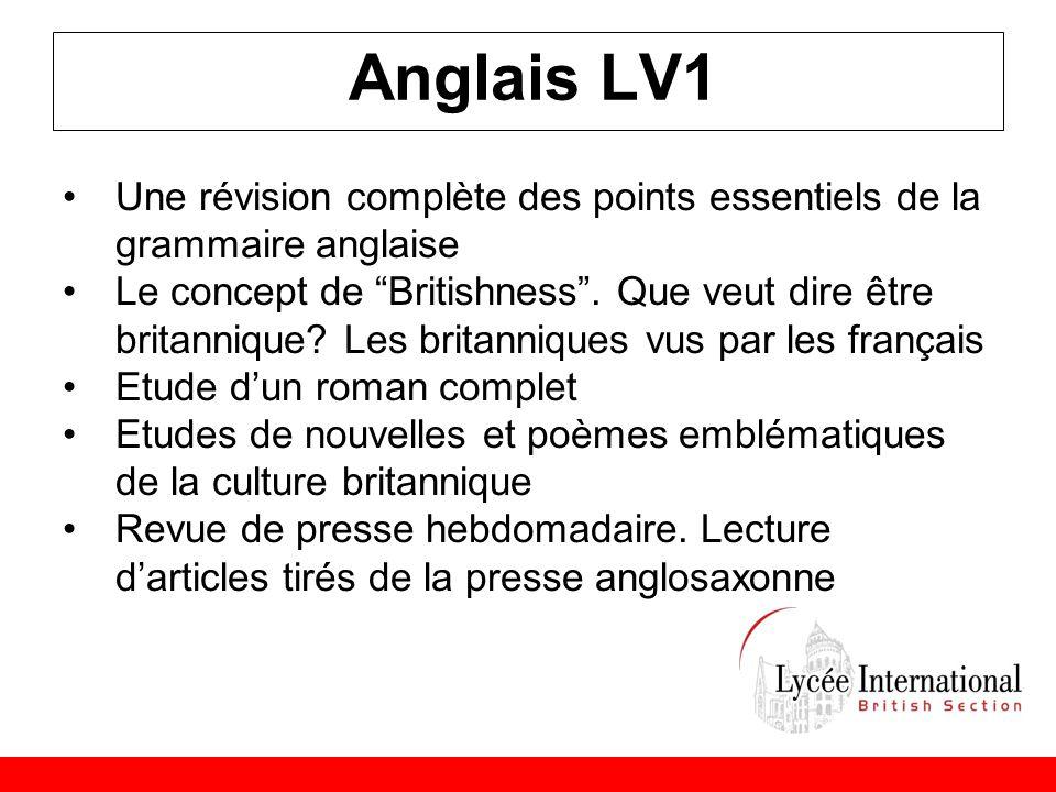 Anglais LV1 Une révision complète des points essentiels de la grammaire anglaise.