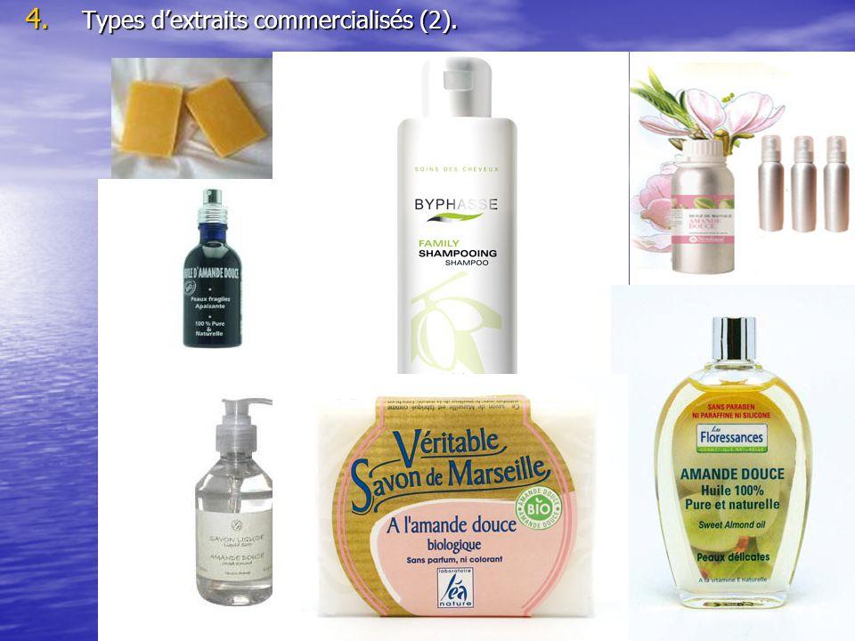 Types d'extraits commercialisés (2).