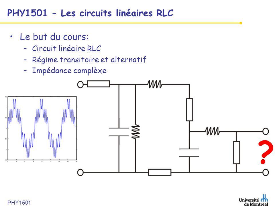 PHY1501 - Les circuits linéaires RLC