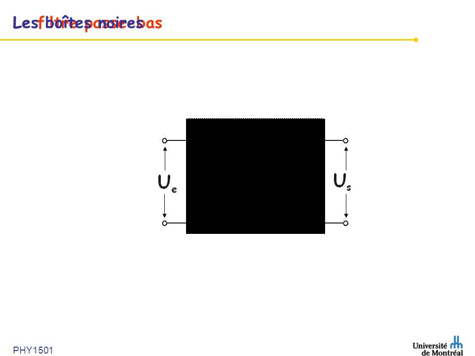 Les boîtes noires Le filtre passe-bas PHY1501