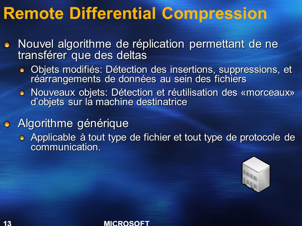 Remote Differential Compression