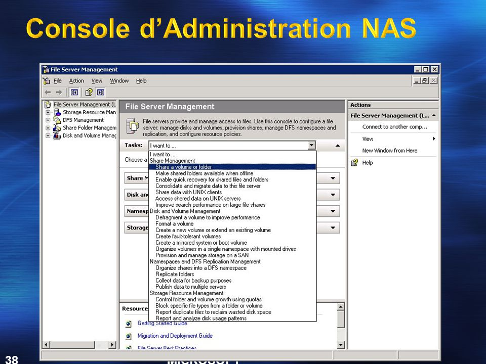 Console d'Administration NAS
