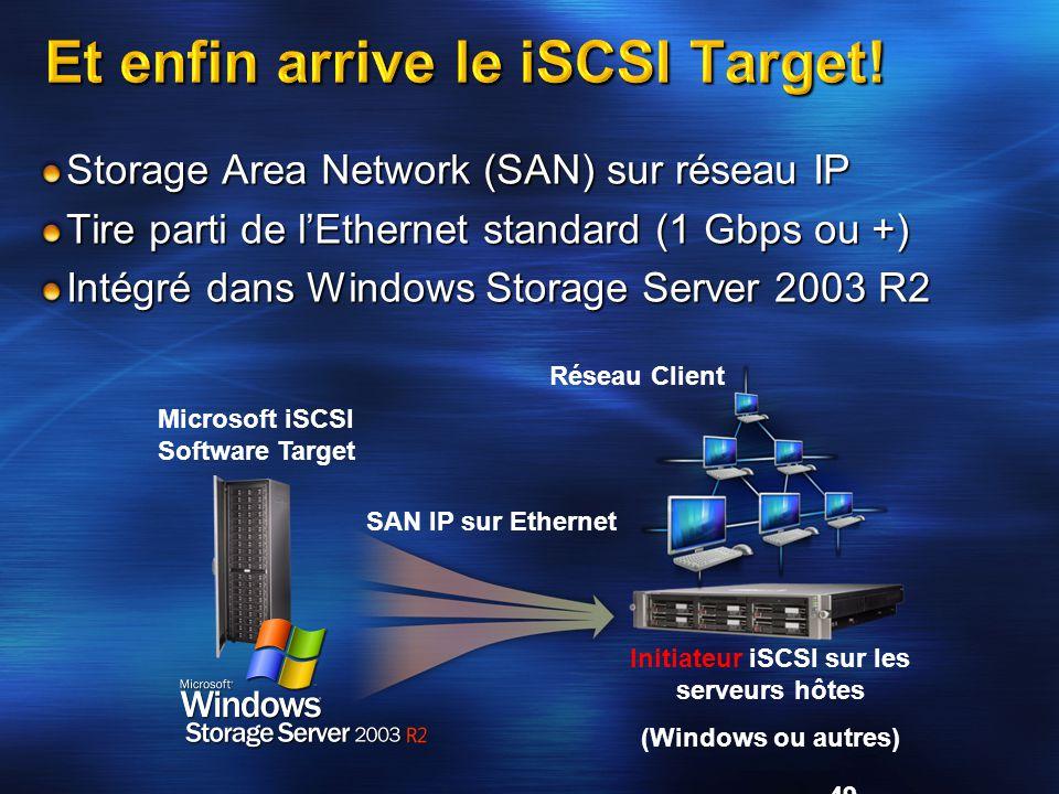 Et enfin arrive le iSCSI Target!
