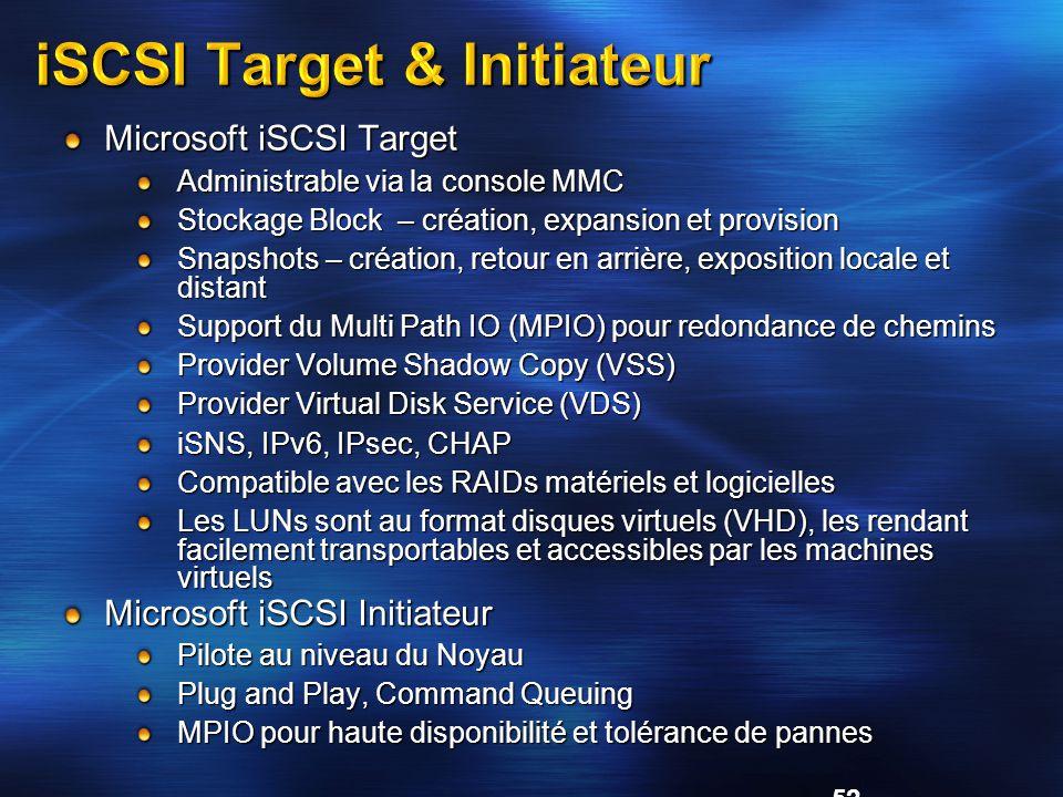 iSCSI Target & Initiateur