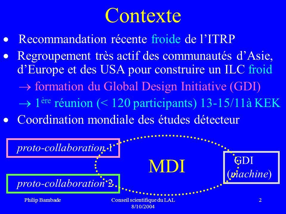Conseil scientifique du LAL 8/10/2004