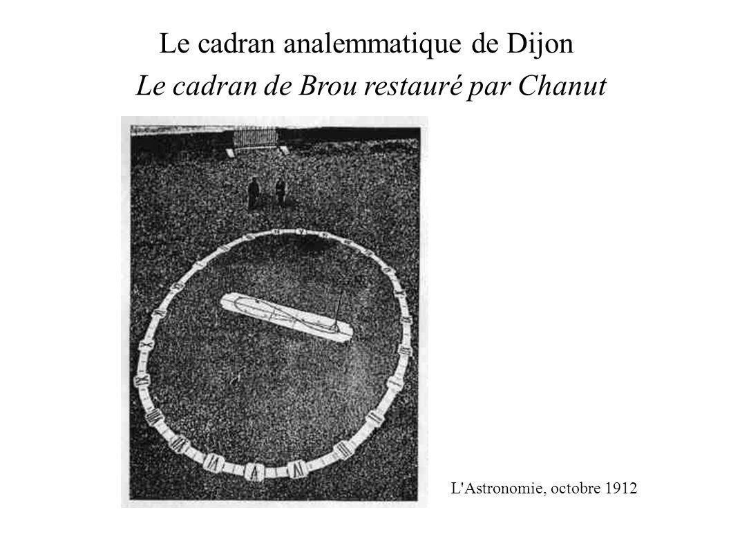 Le cadran analemmatique de Dijon Le cadran de Brou restauré par Chanut