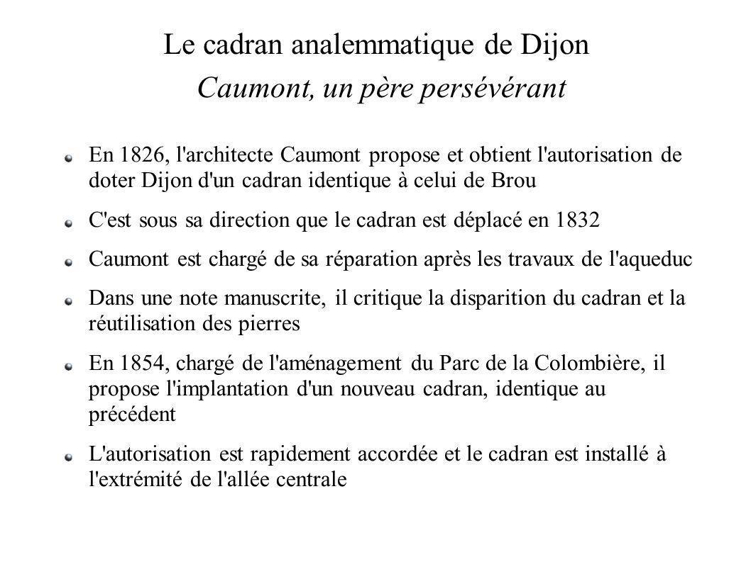 Le cadran analemmatique de Dijon Caumont, un père persévérant