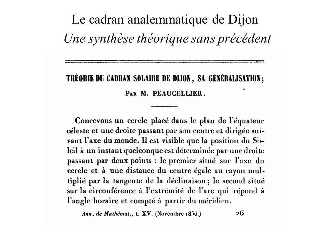 Le cadran analemmatique de Dijon Une synthèse théorique sans précédent