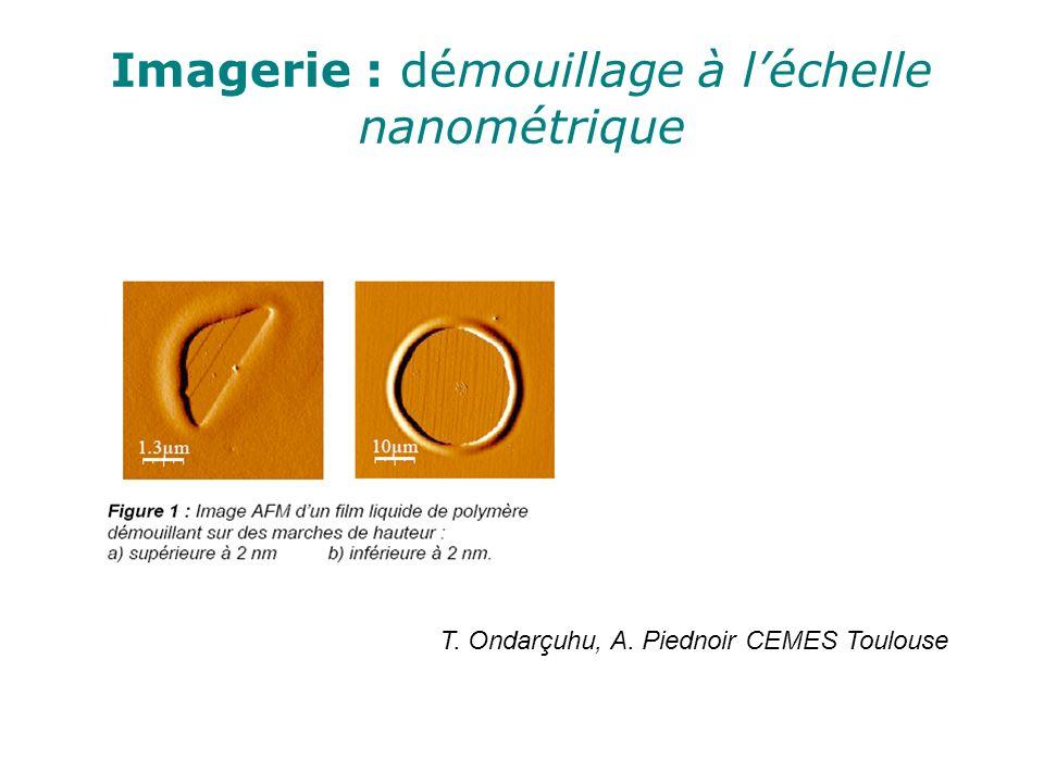 Imagerie : démouillage à l'échelle nanométrique