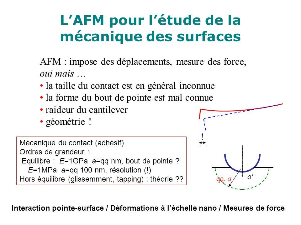 L'AFM pour l'étude de la mécanique des surfaces