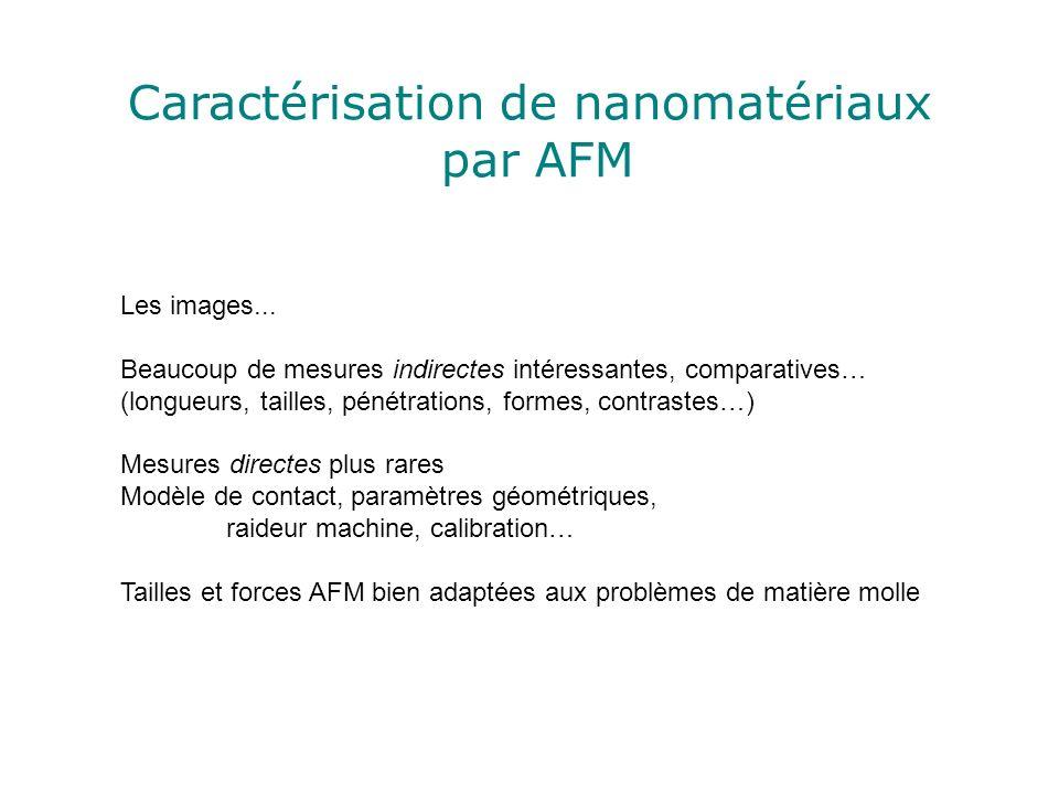Caractérisation de nanomatériaux