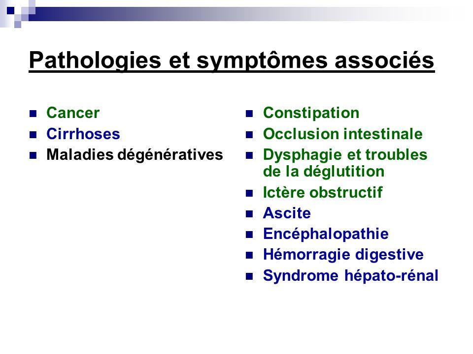 Pathologies et symptômes associés