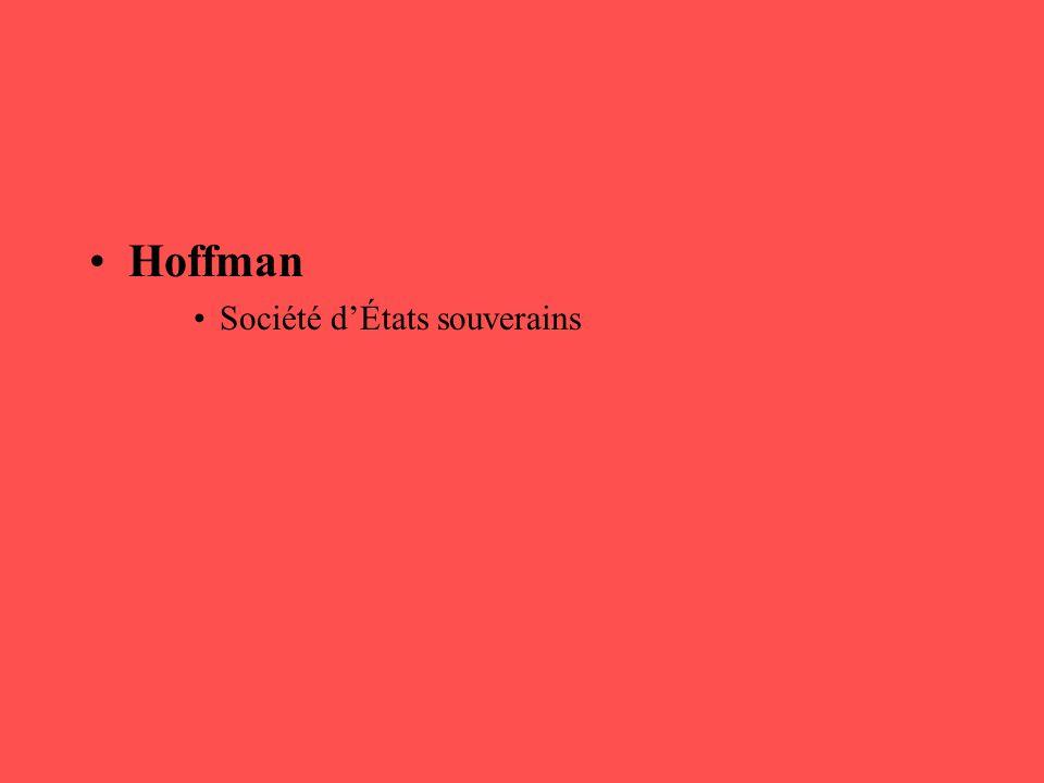 Hoffman Société d'États souverains
