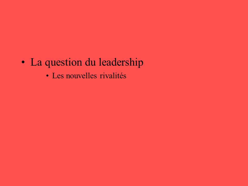 La question du leadership