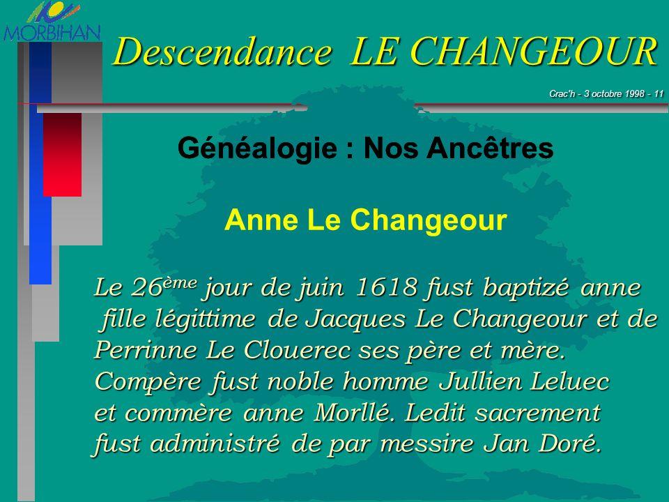 Généalogie : Nos Ancêtres Généalogie : Nos Ancêtres