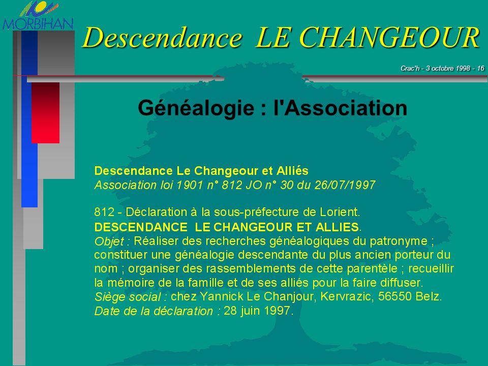 Généalogie : l Association