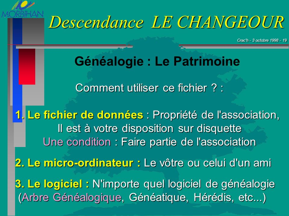 Généalogie : Le Patrimoine