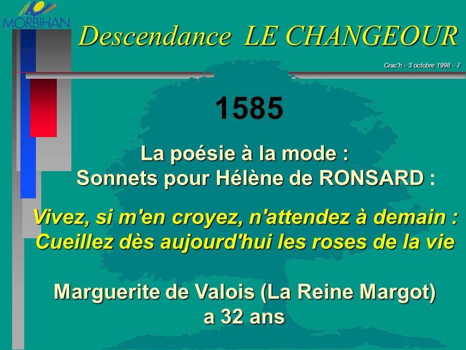 1585 La poésie à la mode : Sonnets pour Hélène de RONSARD :