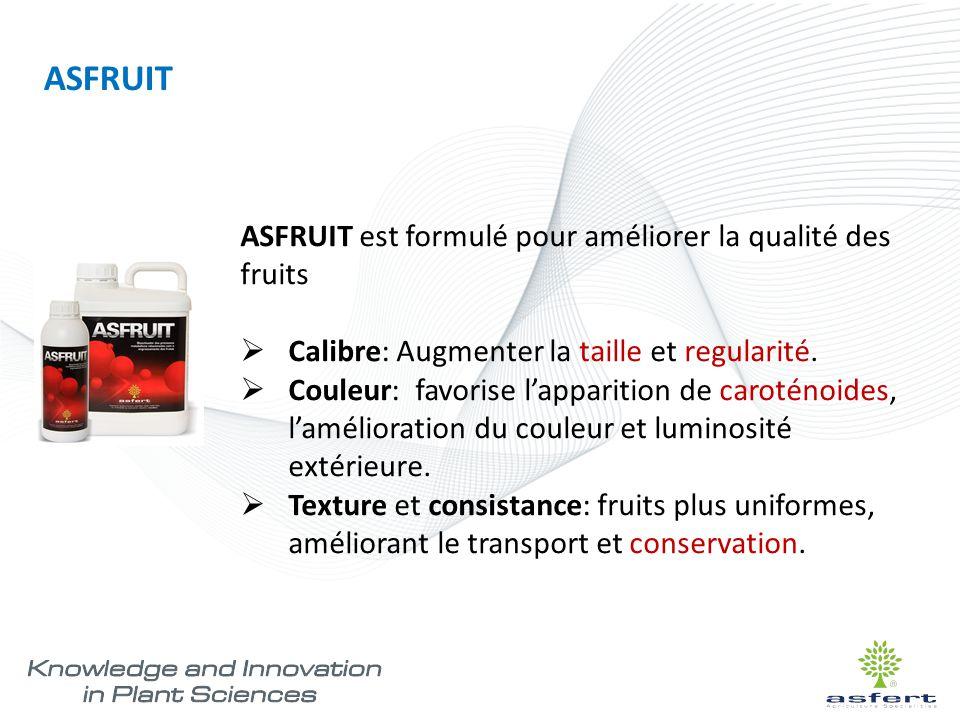 ASFRUIT ASFRUIT est formulé pour améliorer la qualité des fruits