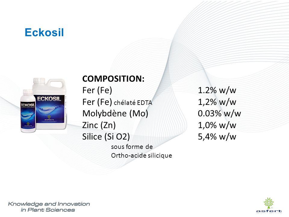 Eckosil COMPOSITION: Fer (Fe) 1.2% w/w Fer (Fe) chélaté EDTA 1,2% w/w