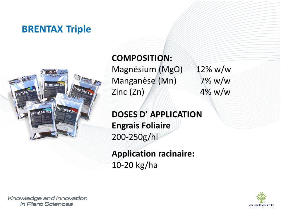 BRENTAX Triple COMPOSITION: Magnésium (MgO) 12% w/w