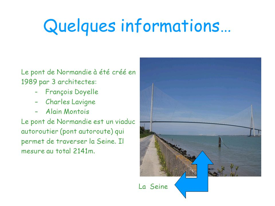 Quelques informations…