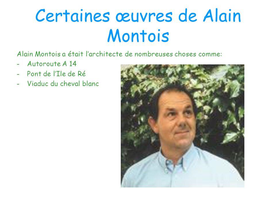 Certaines œuvres de Alain Montois