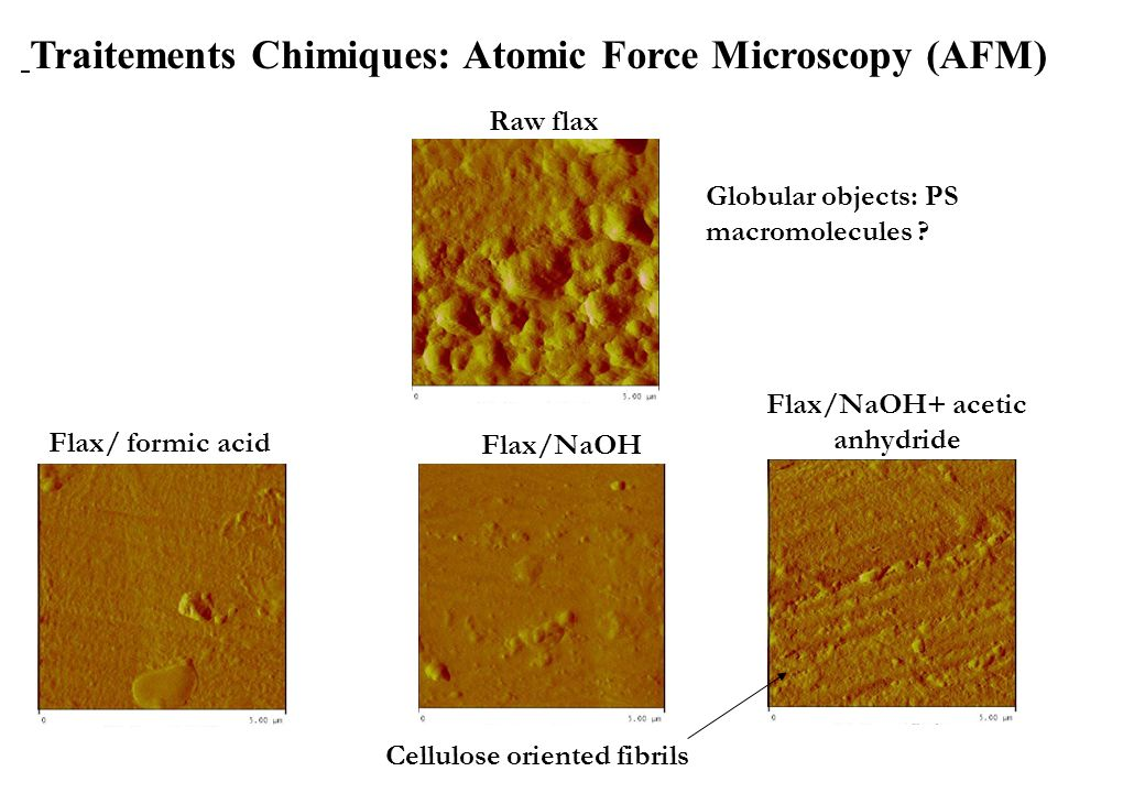 Traitements Chimiques: Atomic Force Microscopy (AFM)