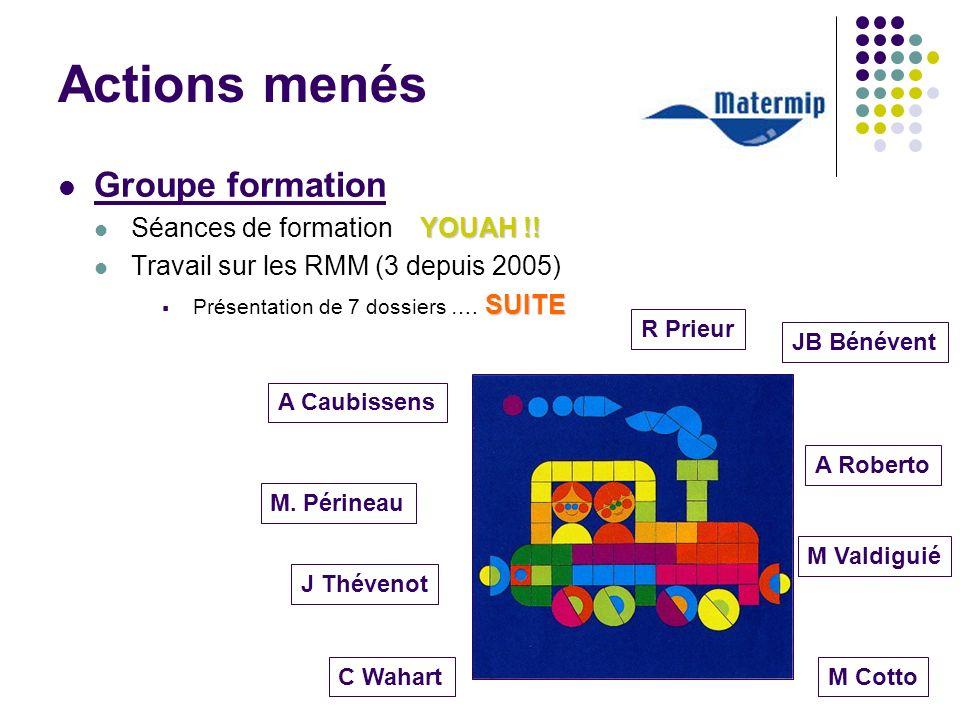 Actions menés Groupe formation Séances de formation YOUAH !!