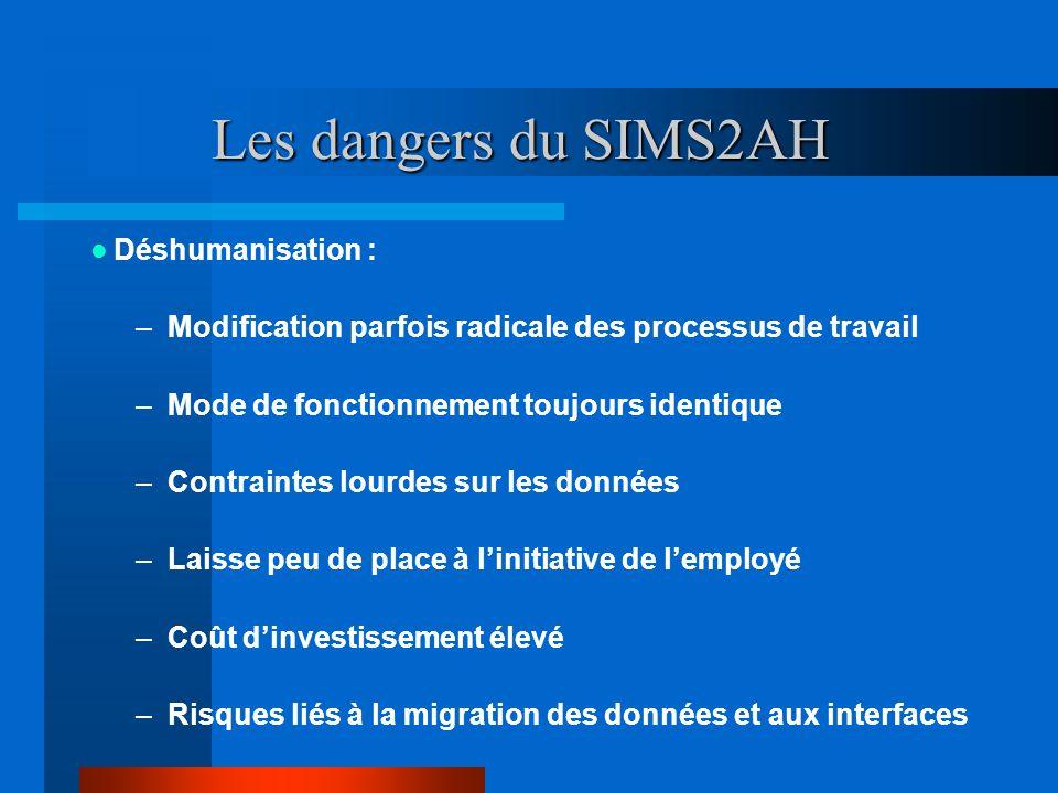 Les dangers du SIMS2AH Déshumanisation :