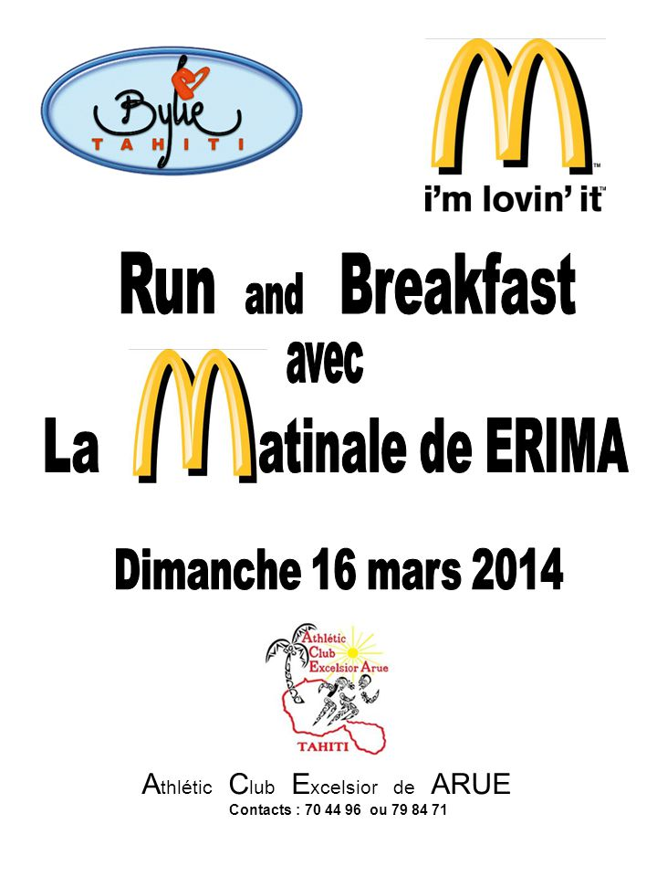 Run Breakfast La atinale de ERIMA and avec